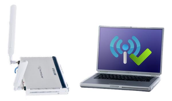 無線LAN機器とバリバリにバリ3で繋がるノートパソコン